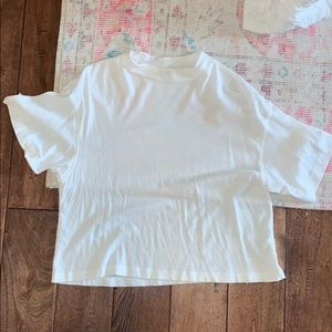 Free People High Neck White Crop Top